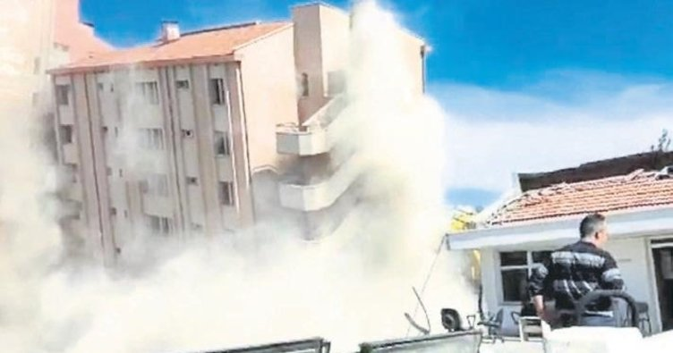 Isparta'da hastane yıkıldı