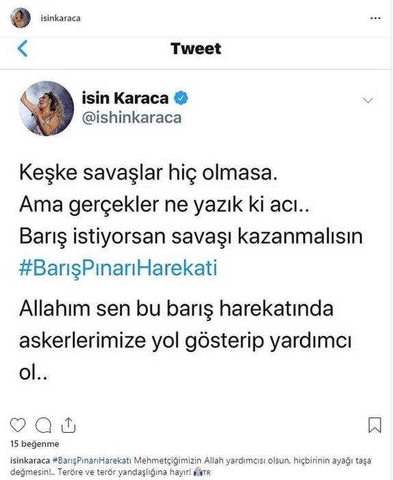 Ünlüler 'Barış Pınarı Harekatı'na böyle destek verdi!