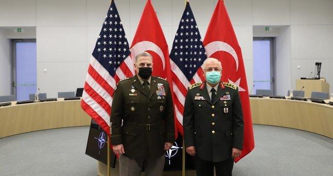 Genelkurmay Başkanı Orgeneral Yaşar Güler, ABD Genelkurmay Başkanı Orgeneral Mark Milley ile görüştü