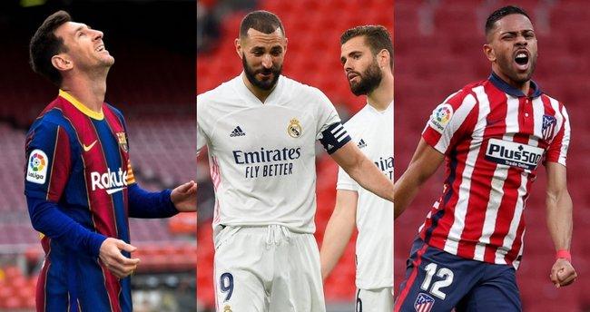 İspany'da şampiyonluk son haftaya kaldı! Atletico Madrid ve Real Madrid kazandı, Barcelona kaybetti...