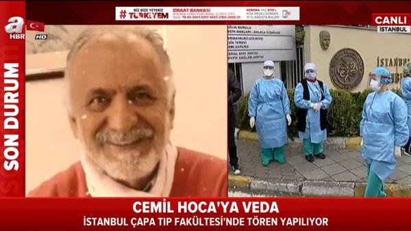Corona virüsü hastalığından ölen Prof. Dr. Cemil Taşçıoğlu'a İstanbul Çapa'da veda merasimi | Video