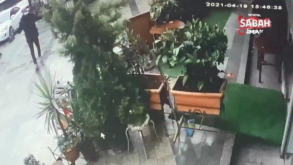 İstanbul'da gasp şüphelisi, polis baskınından kaçarken damdan böyle düştü | Video