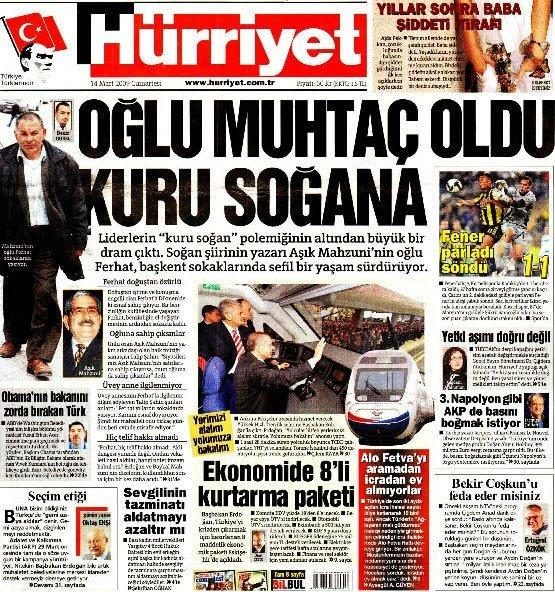Türk basınında bugün - 14.03.2009