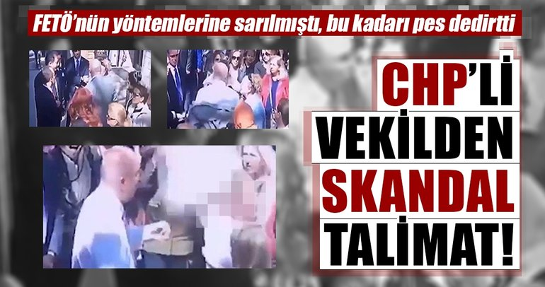 CHP'li Tanal talimat verdi, partili kadın soyundu