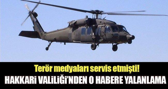 Hakkari'de 3 helikopterin vurulduğu iddiasına yalanlama