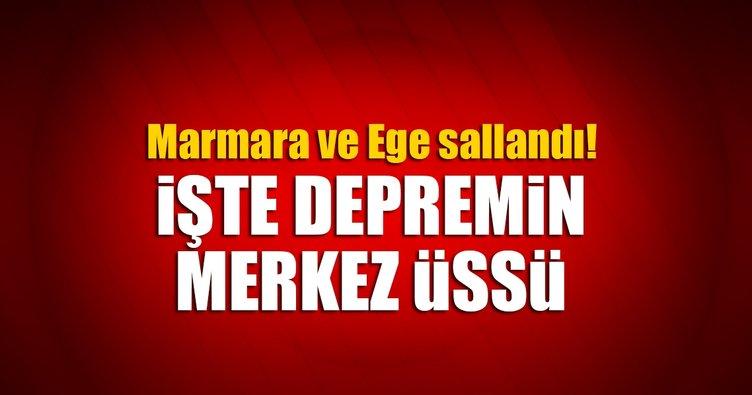 Son dakika! Marmara ve Ege'de deprem! İşte depremin merkez üssü