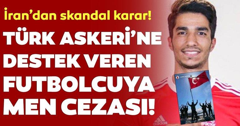 İran'dan skandal karar! Barış Pınarı Harekatı'nı destekleyen futbolcu Mehdi Bebri'yi cezalandırdılar!