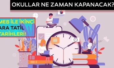 2020 Okullar ne zaman kapanacak? İkinci ara tatil ne zaman başlayacak? İşte ara tatil tarih!