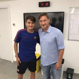 Cengiz Ünder, Totti'yle ilk karşılaşmalarını anlattı