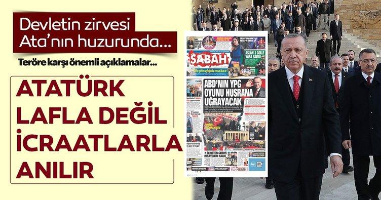 Atatürk lafla değil icraatlarla anılır