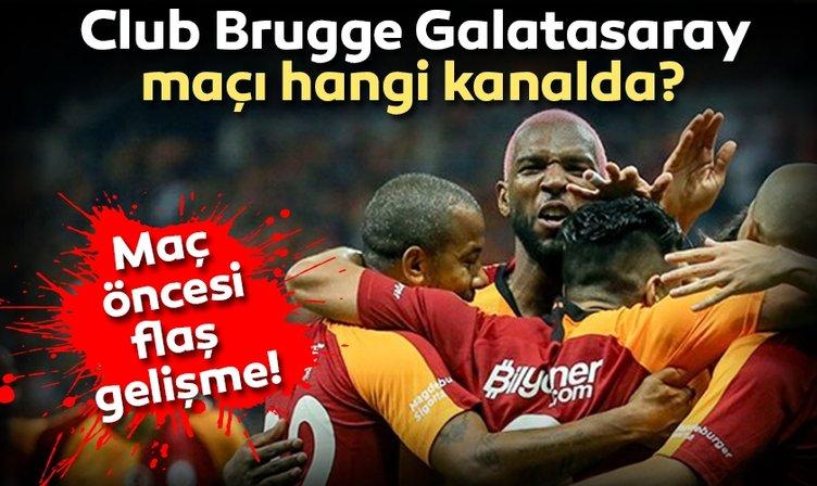Son Dakika: Club Brugge Galatasaray maçı hangi kanalda? Club Brugge Galatasaray bugün saat kaçta? İşte muhtemel 11'ler