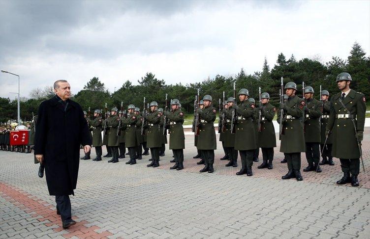 Harp Akademileri Komutanlığı'na Cumhurbaşkanı  ziyareti