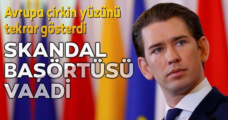Avusturya'da eski başbakanı Kurz'dan skandal başörtüsü yasağı vaadi