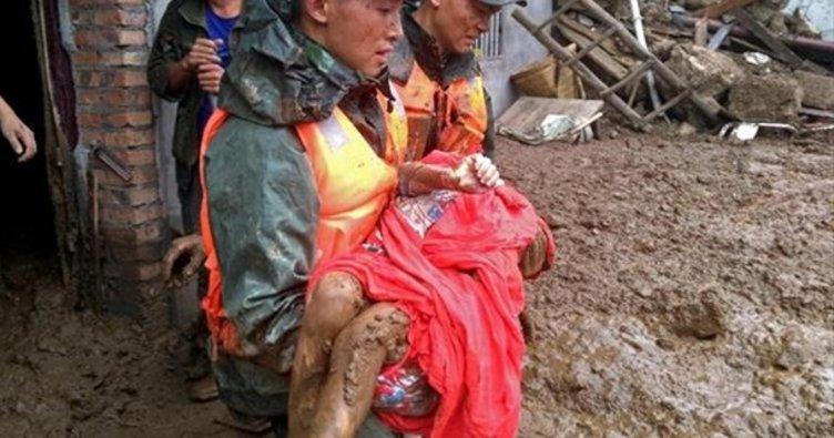 Çin'de heyelan: 23 kişi hayatını kaybetti