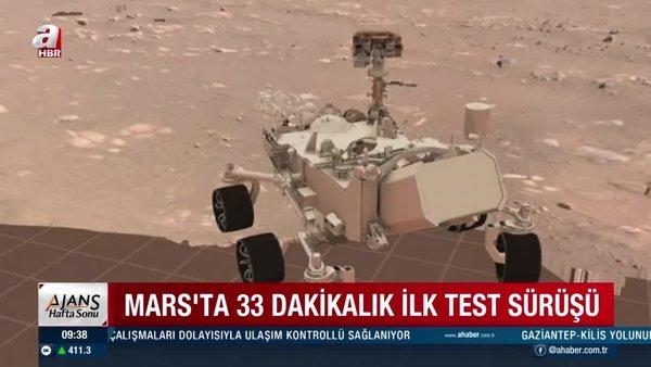 Perseverance Mars'ta ilk test sürüşünü gerçekleştirdi |Video