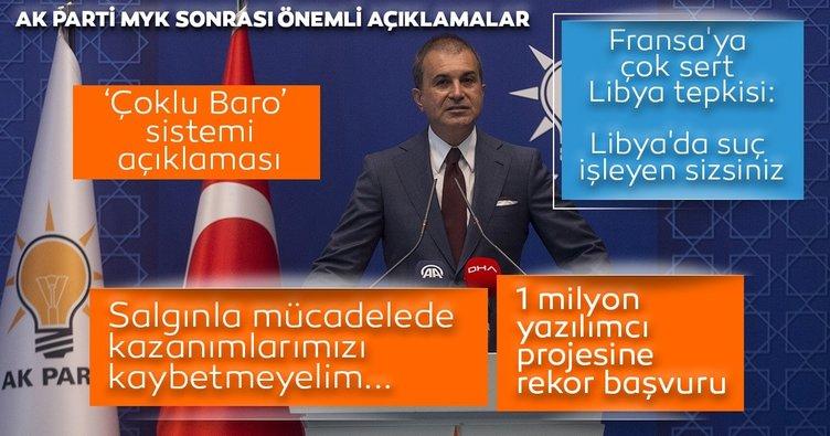 AK Parti MYK sona erdi! Sözcü Çelik'ten önemli açıklamalar