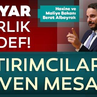 Hazine ve Maliye Bakanı Berat Albayrak'tan ABD'de güven mesajı verecek