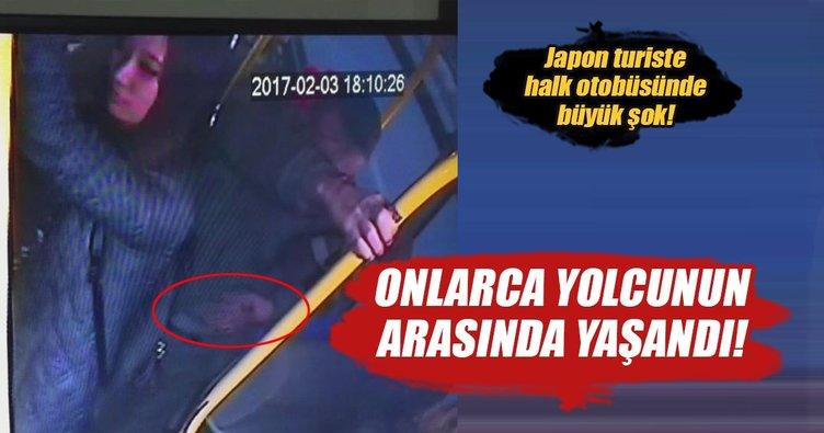 Japon turistin cüzdanını böyle çaldı