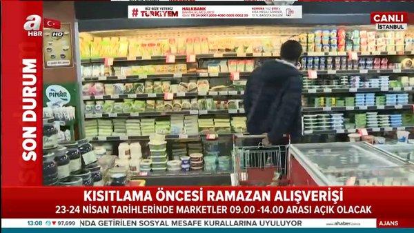 Sokağa çıkma kısıtlaması süresince marketler açık olacak mı?