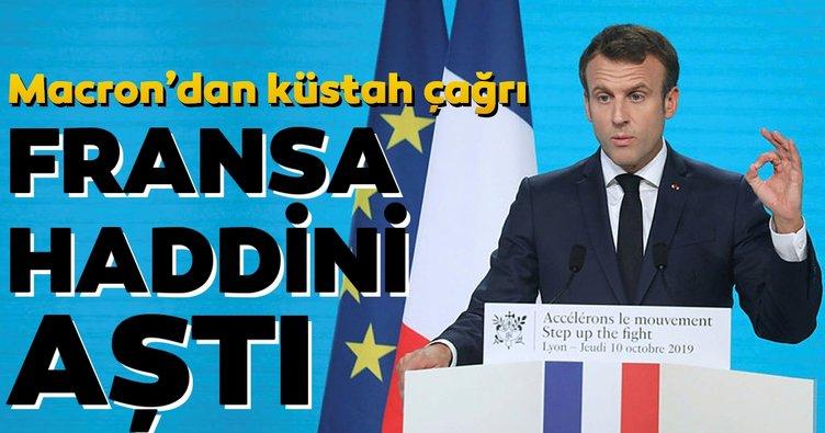 Fransa'dan küstah çağrı