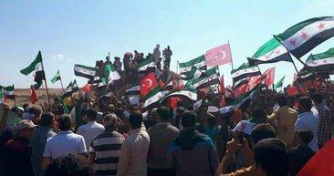 İdlib'de Cumhurbaşkanı Erdoğan'a sevgi gösterisi