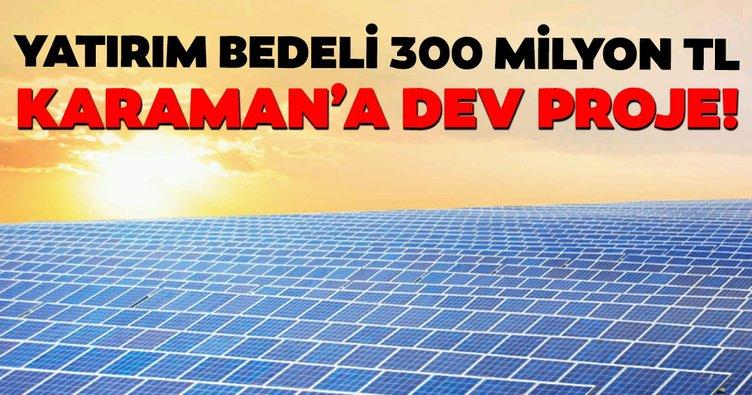 Enerjide başlatılan milli seferberliğe bir harç da Karaman'dan