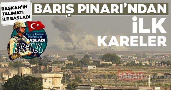 Barış Pınarı'ndan ilk kareler gelmeye başladı