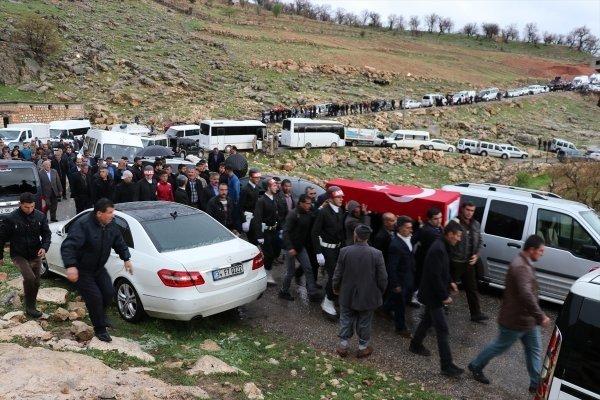 Siirt'in Eruh ilçesinde şehit edilen korucular son yolculuğuna uğurlandı