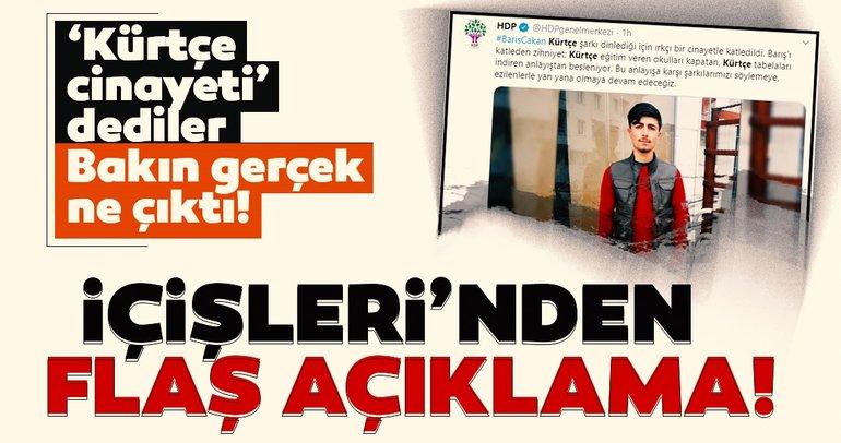 İçişleri Bakanlığı'ndan sözde 'Kürtçe müzik cinayeti' iddiasına ilişkin açıklama: Millet düşmanlarını tek tek düzeltelim!