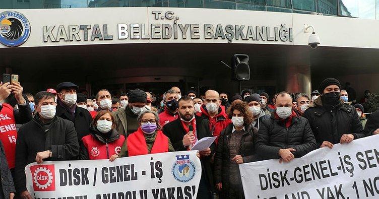 CHP'li Kartal Belediyesi'nde işçilerden protesto