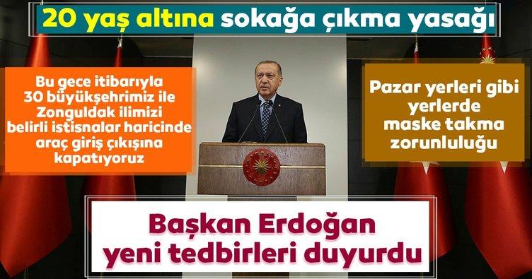 Son dakika: Başkan Erdoğan'dan corona virüs tedbirleri kapsamında önemli açıklamalar