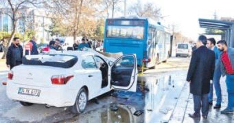 Çubuk ilçesinde esrarlı kaza