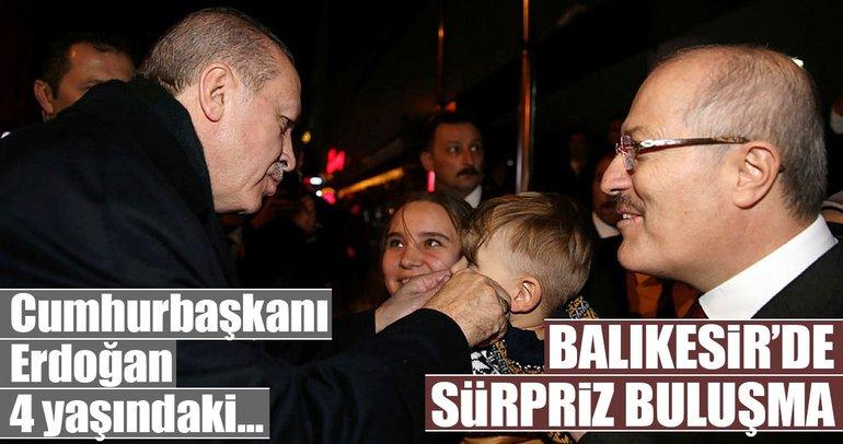 Cumhurbaşkanı Erdoğan, minik adaşı ile buluştu