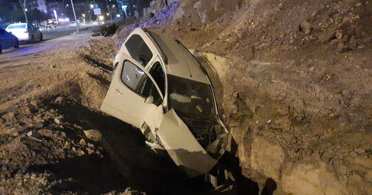 Kontrolden çıktı, çukura girdi! Şanlıurfa'da kaza