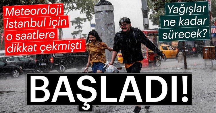 Meteoroloji'den son hava durumu uyarısı! Bugün İstanbul hava durumu nasıl olacak? Sağanak yağış...