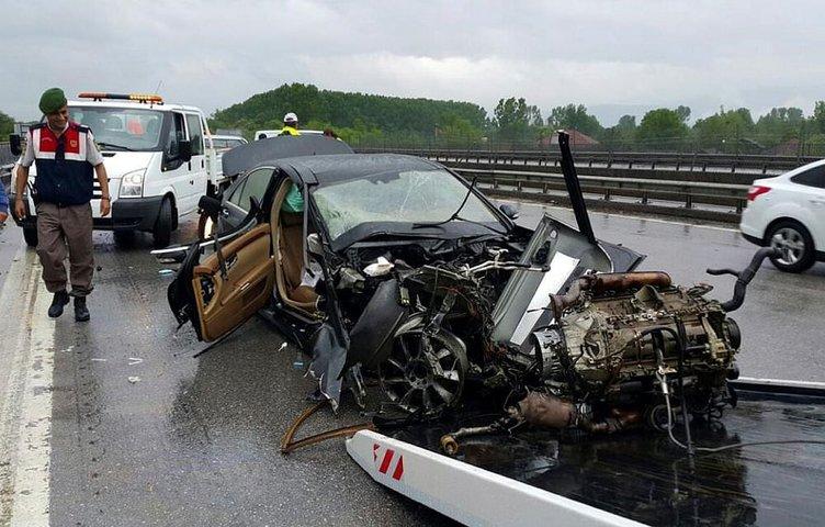 TEM'de kaza 4 yaralı