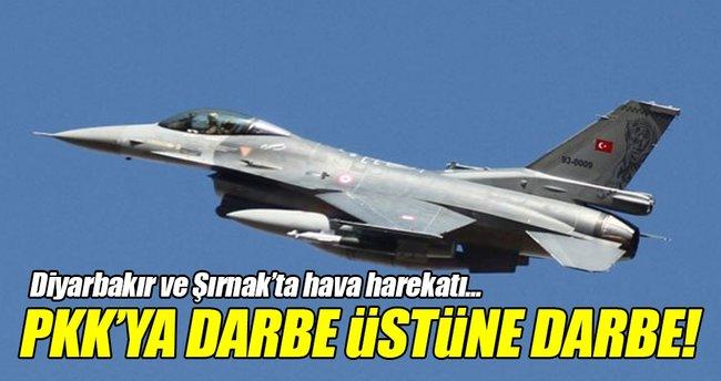 TSK'dan Diyarbakır ve Şırnak'a hava harekatı!