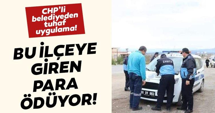 Düziçi Belediyesi'nden tuhaf uygulama: İlçeye giren araçlardan para alınıyor
