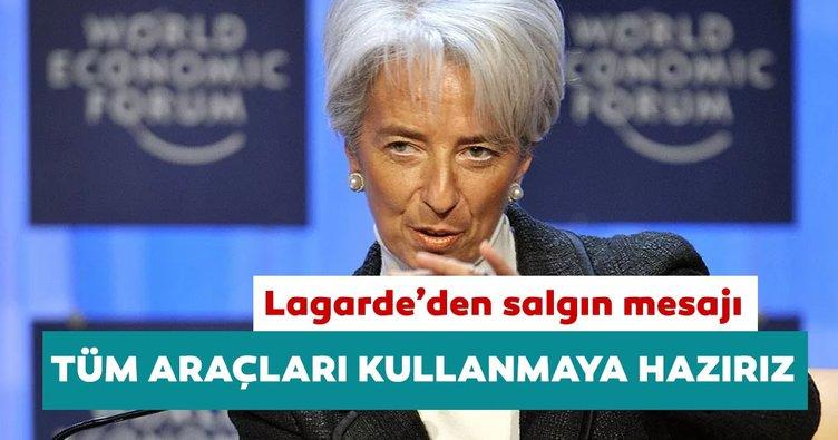 ECB Başkanı Lagarde'den destek açıklaması: Salgın devam eder ise daha fazla yardım sağlamaya hazırız