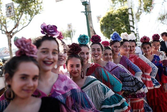 Sevilla'da panayır coşkusu