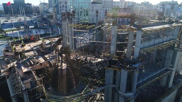 Taksim Camii'nnin yarısından fazlası tamamlandı