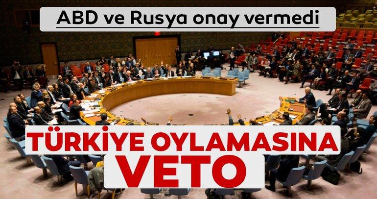 ABD ve Rusya, BMGK'nin Türkiye'yi kınamasına onay vermedi