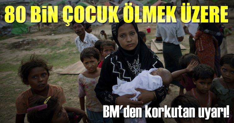 80 bin Myanmarlı çocuk açlıktan ölmek üzere