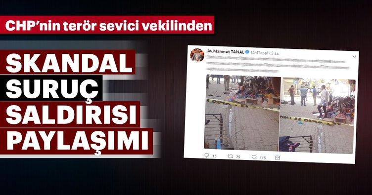 CHP'li Mahmut Tanal'dan skandal Suruç paylaşımı