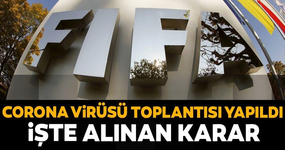 FIFA'da kritik corona virüsü toplantısı yapıldı! İşte alınan karar