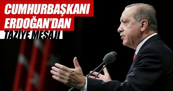 Cumhurbaşkanı Erdoğan'dan Talabani ailesine taziye mesajı