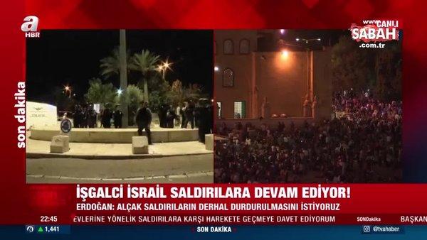 Son dakika: İsrail güçleri, Kadir Gecesi'nde Filistinlilere yönelik saldırılarına devam ediyor | Video