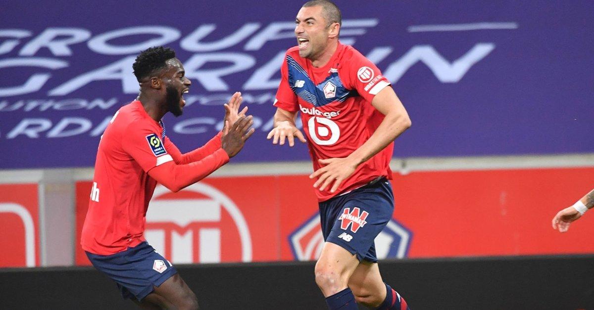 Burak Yılmaz ve Yusuf Yazıcı attı Lille Lens'i farklı geçti! Lille 4-0 Lens