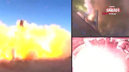 Elon Musk'a ait SpaceX'in roketi test sırasında patladı   Video
