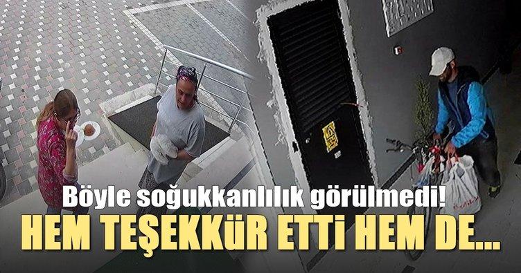 Adana'da yemek ikram edilen hırsız, ayakkabıyla bisiklet çaldı